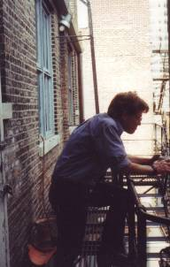 Artist David Jones Fire Escape
