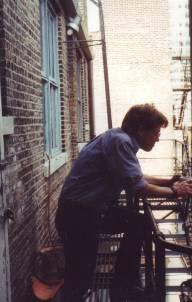 Artist David Jones Fire Escape